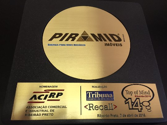 Galeria de fotos de Piramid Imóveis recebe homenagem da ACIRP - Associação Comercial de Ribeirão Preto.
