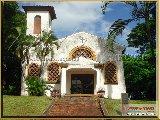 Fundação Educandário Cel Quito Junqueira - Igreja, que durante muitos anos foram celebradas dominicalmente missas para todos educandos e funcionários. Hoje está desativada. - Fonte: